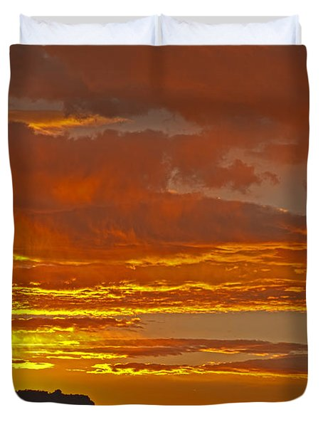 Sunrise Capitol Reef National Park Duvet Cover
