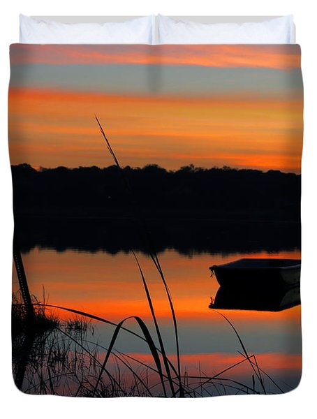 Duvet Cover featuring the photograph Sunrise Cove  by Dianne Cowen