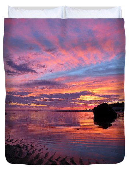 Duvet Cover featuring the photograph Sunrise Drama by Dianne Cowen