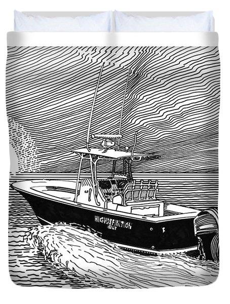 Sunrise Fishing Duvet Cover by Jack Pumphrey