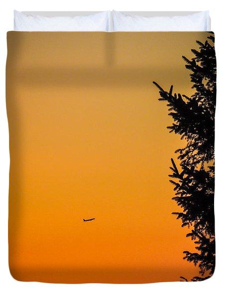 Sunrise Flight Departing Shannon Airport Duvet Cover