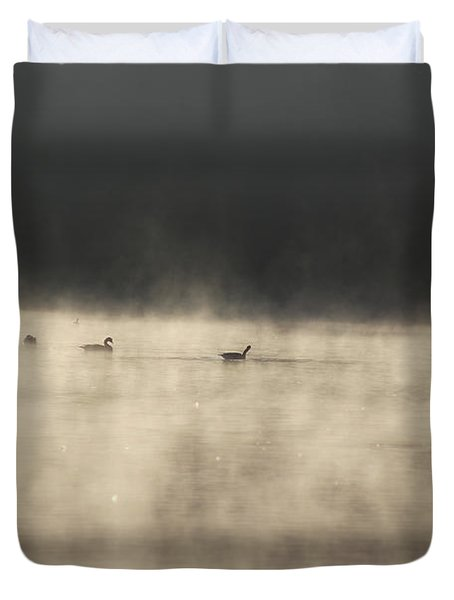 Sunrise Geese Duvet Cover by Melissa Petrey