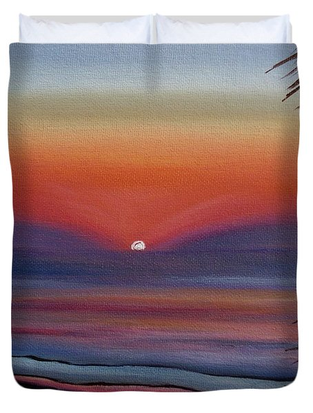 Duvet Cover featuring the painting Sunrise Glow by Donna Tuten