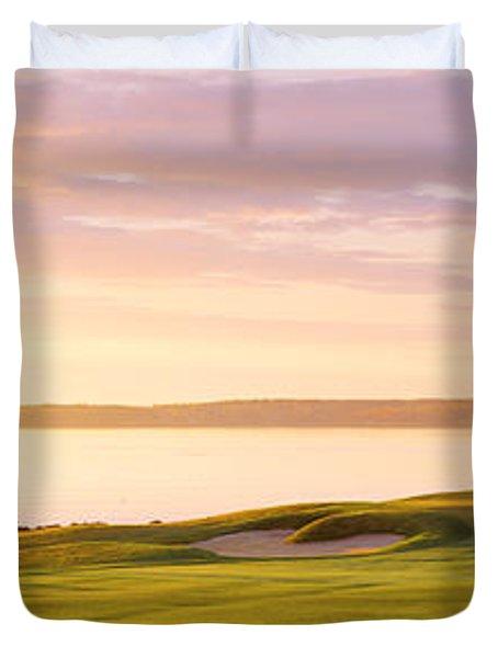 Sunrise Golf Course Me Usa Duvet Cover