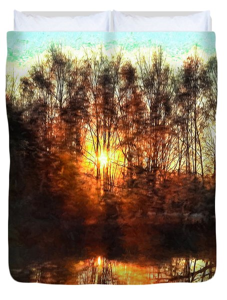 Duvet Cover featuring the photograph Sunrise Imp October 31 2014- by Leif Sohlman