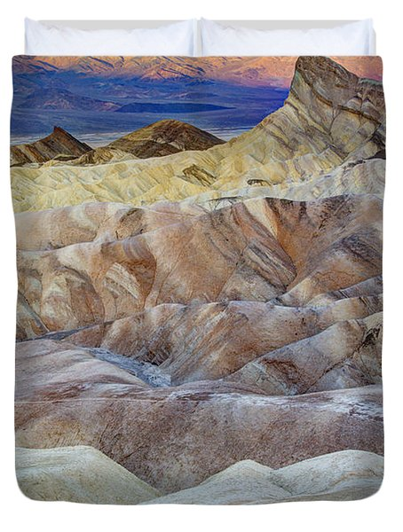 Sunrise In Death Valley Duvet Cover