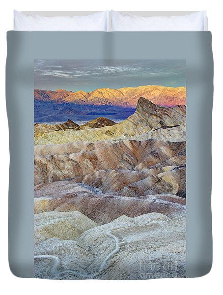 Sunrise In Death Valley Duvet Cover by Juli Scalzi