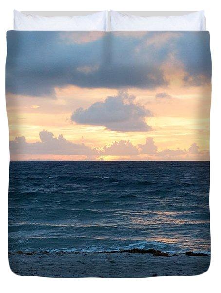Duvet Cover featuring the photograph Sunrise In Deerfield Beach by Rafael Salazar