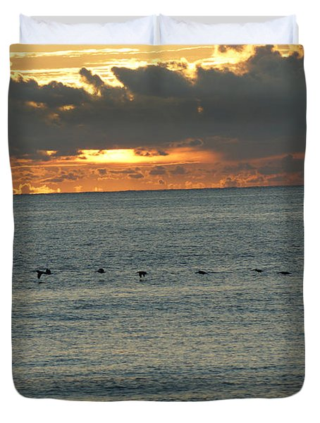 Duvet Cover featuring the photograph Sunrise In Florida Riviera by Rafael Salazar