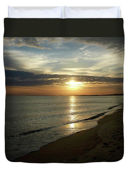Sunrise In Norfolk Va Duvet Cover