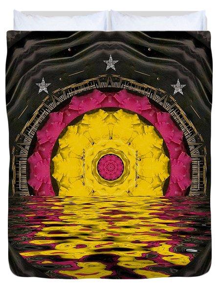 Sunrise In Paradise Pop Art Duvet Cover by Pepita Selles