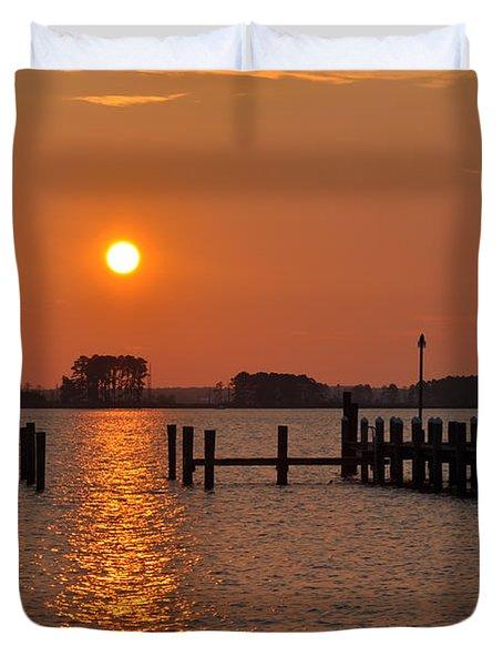 Sunrise In Piney Point Md Duvet Cover