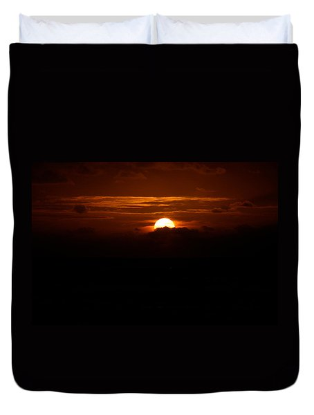Sunrise In The Clouds Duvet Cover