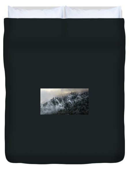 Duvet Cover featuring the photograph Sunrise In The Clouds by Melanie Lankford Photography