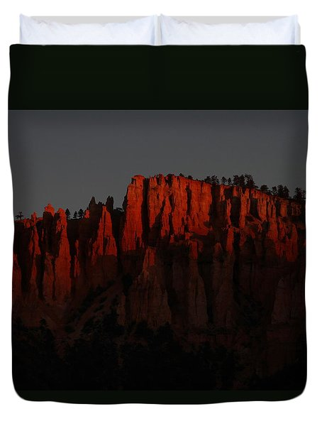 Sunrise In The Desert Duvet Cover