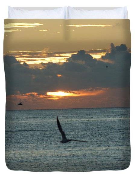 Duvet Cover featuring the photograph Sunrise In The Florida Riviera by Rafael Salazar