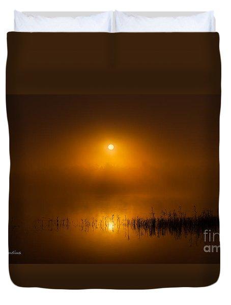 Sunrise In The Fog Duvet Cover