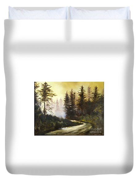 Sunrise In The Forest Duvet Cover by Lee Piper