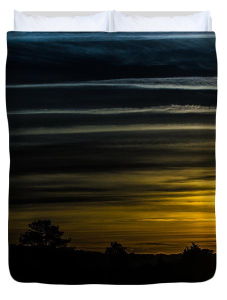 Duvet Cover featuring the photograph Sunrise In Virginia by Angela DeFrias