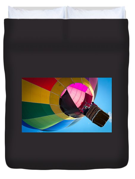 Duvet Cover featuring the photograph Sunrise Launch by Patrice Zinck