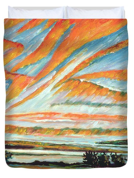 Sunrise Les Eboulements Quebec Duvet Cover by Patricia Eyre