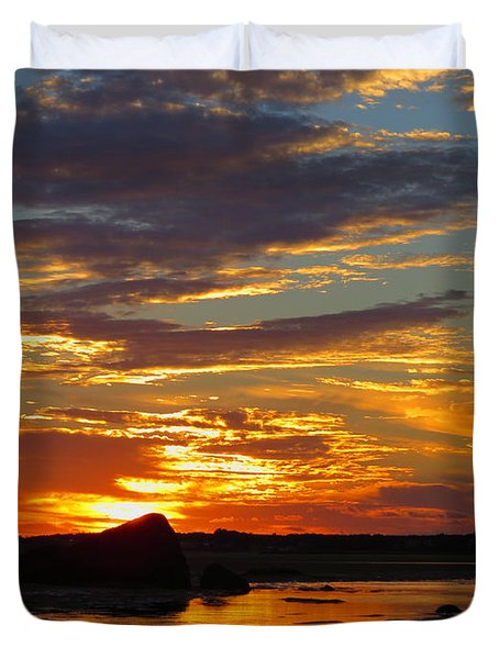 Duvet Cover featuring the photograph Sunrise Magic by Dianne Cowen