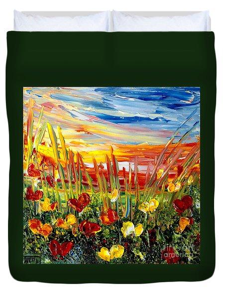 Sunrise Meadow   Duvet Cover by Teresa Wegrzyn
