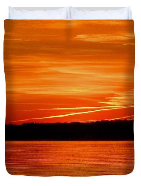 Duvet Cover featuring the photograph Sunrise Memory  by Lyle Crump