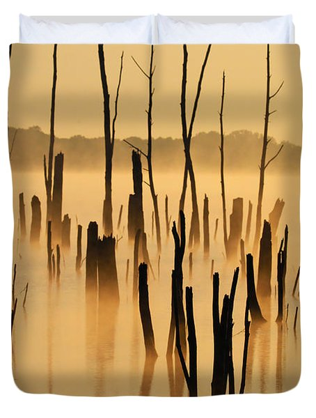 Sunrise Mist Duvet Cover by Roger Becker