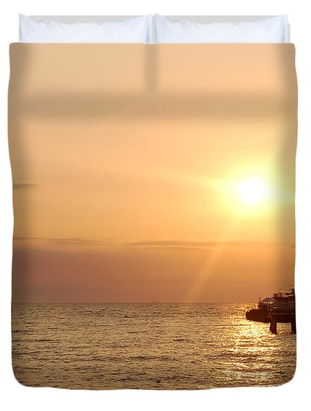 Sunrise Ocean Duvet Cover by Michal Bednarek