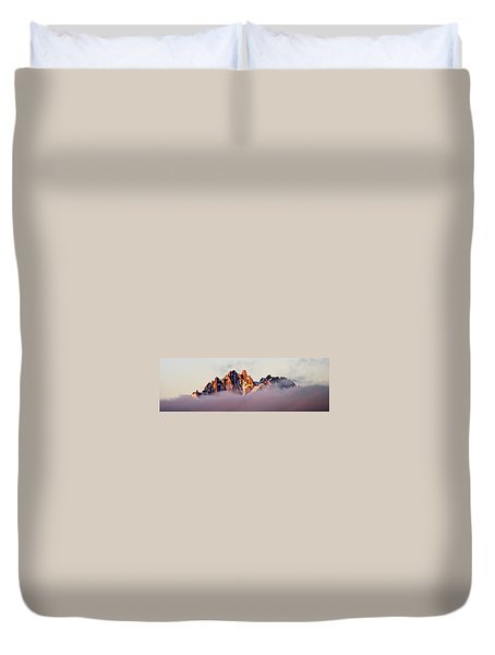 Sunrise On An Island In The Sky Duvet Cover