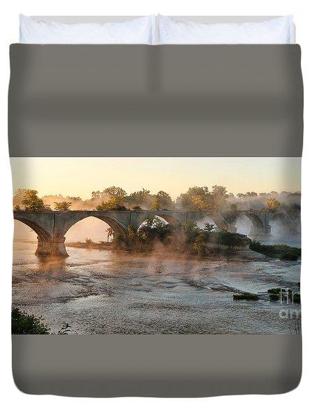 Sunrise On Interurban Bridge 0369 Duvet Cover