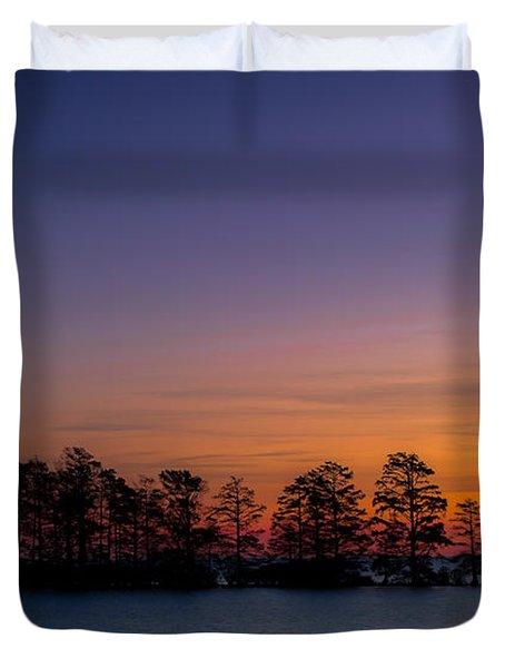 Sunrise On Lake Mattamuskeet Duvet Cover