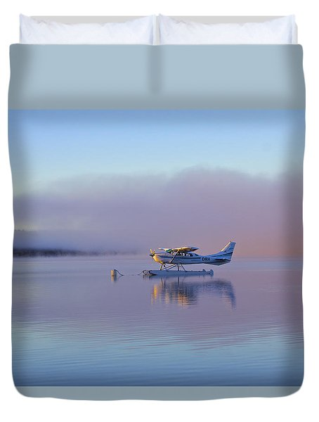 Sunrise On Lake Te Anu Duvet Cover by Venetia Featherstone-Witty
