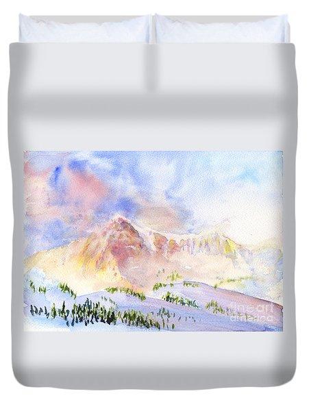 Sunrise On Mount Ogden Duvet Cover