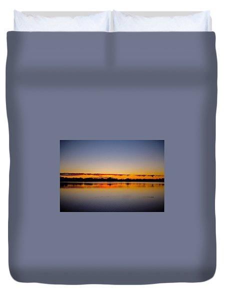 Sunrise On Riviere Des Mille-iles Duvet Cover by Juergen Weiss