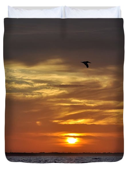 Sunrise On Tampa Bay Duvet Cover by Bill Cannon