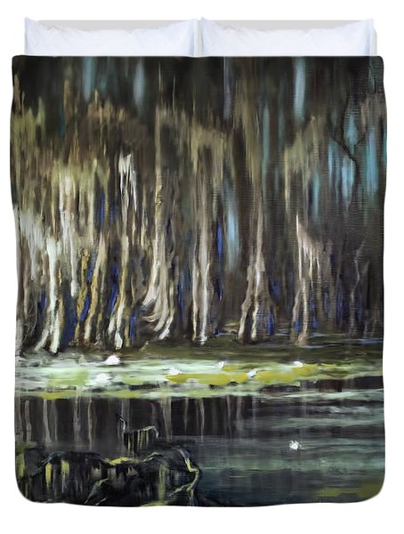Sunrise On The Bayou Duvet Cover