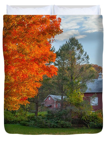 Sunrise On The Farm Duvet Cover by Bill Wakeley