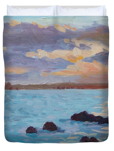 Sunrise On The Grotto Duvet Cover by Dianne Panarelli Miller