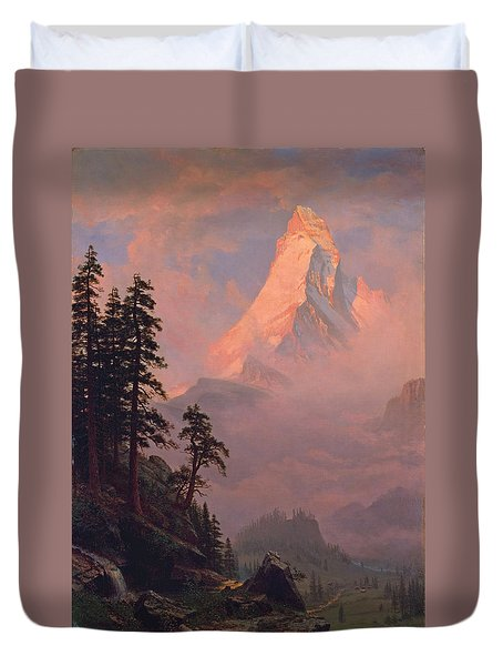 Sunrise On The Matterhorn Duvet Cover