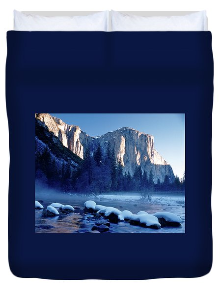 Sunrise On El Capitan Yosemite National Park Duvet Cover