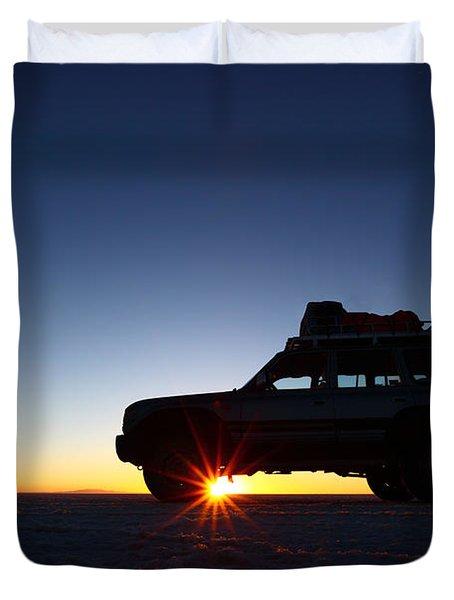 Sunrise On The Salar De Uyuni Duvet Cover