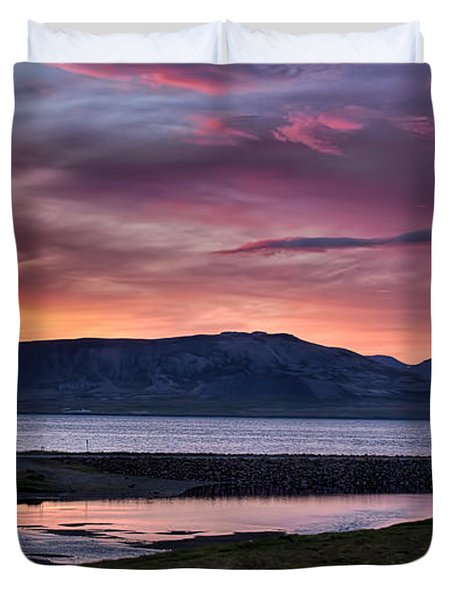 Sunrise On The Snaefellsnes Peninsula In Iceland Duvet Cover