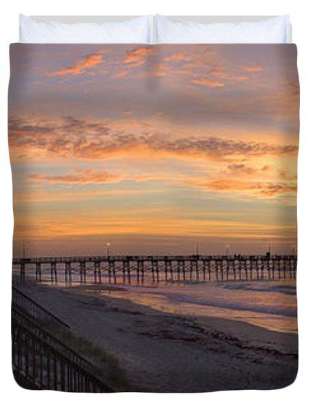 Sunrise On Topsail Island Panoramic Duvet Cover