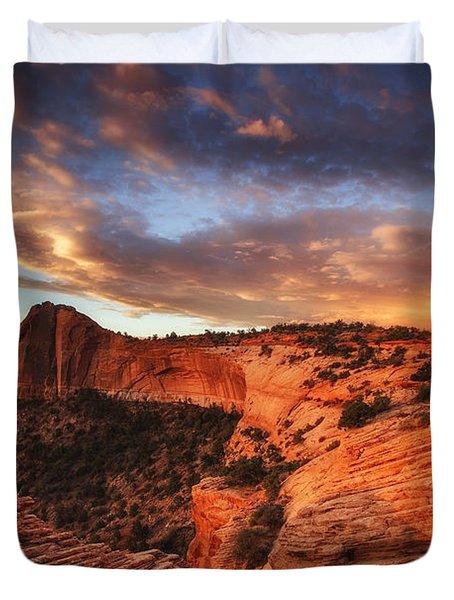 Sunrise Over Canyonlands Duvet Cover by Darren  White