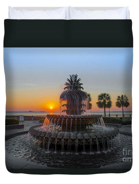 Sunrise Over Charleston Duvet Cover