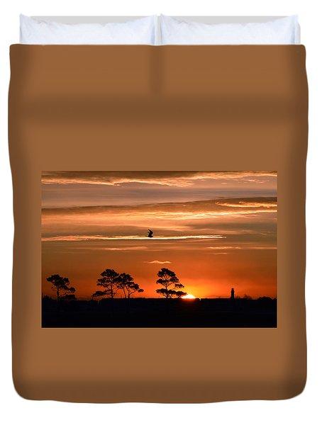 Sunrise Over Fenwick Island Duvet Cover