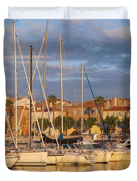 Sunrise Over La Ciotat France Duvet Cover by Brian Jannsen