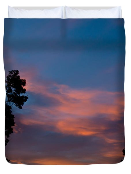 Sunrise Over Mammoth Campground Duvet Cover